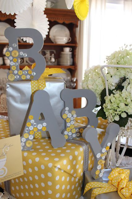 colorful baby shower decorations. Delightfully Detailed  Cute as a Button Baby Shower vanuska 82 best Green and Yellow Showers images on Pinterest