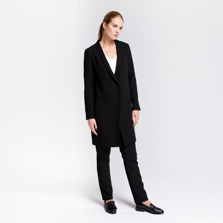 Roma Coat Black Elementy #roma #coat #wool #black #elementy #polishfashion #classic #minimal #simplicity #plaszcz #czern #welna #polskamoda #minimalizm #aw16