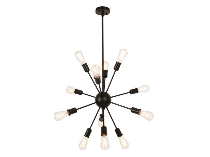 Malling 12 Light Pendant in Black