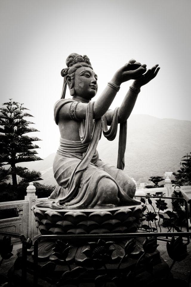 One of the 5 biggest Buddha statues.  The Tian Tan Buddha.  CHINA