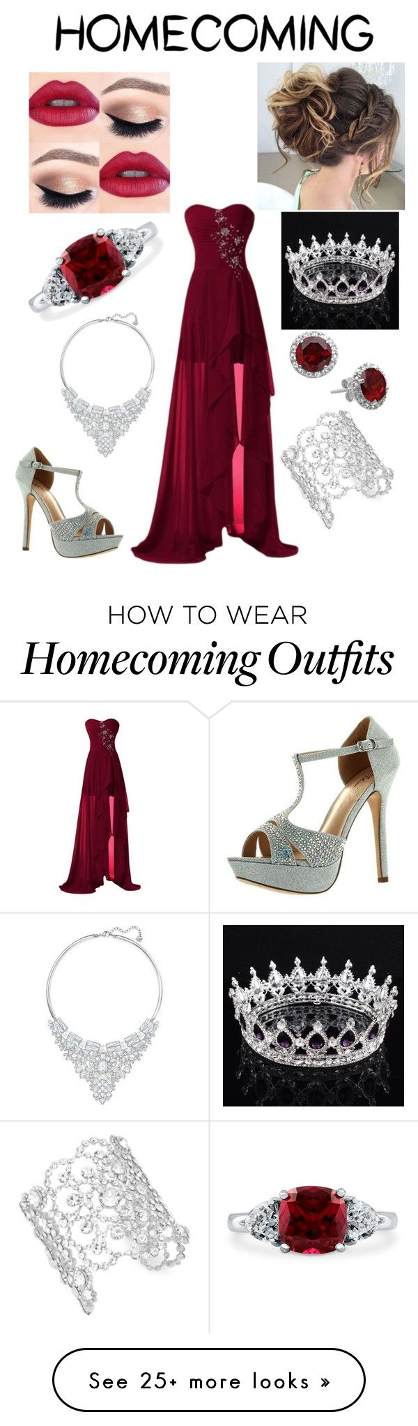 """Homecoming Queen"" by calliedc on Polyvore featuring De Blossom, Kate Spade, Swarovski and BERRICLE"