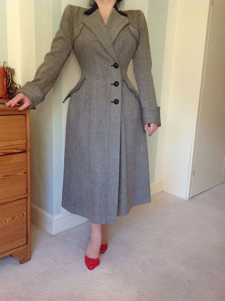 Utility 1940s Iconic Coat Pin Up WW2 Vintage Couture Wool Princess | eBay