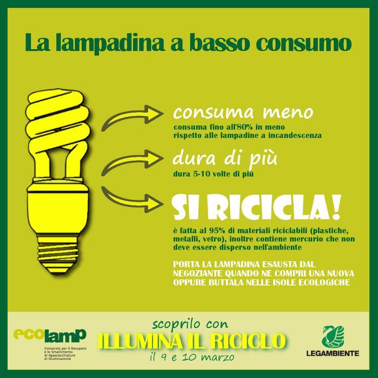 """#semi242 la #lampadina che si #ricicla Ecolamp e Legambiente insieme per """"Illumina il riciclo""""..."""
