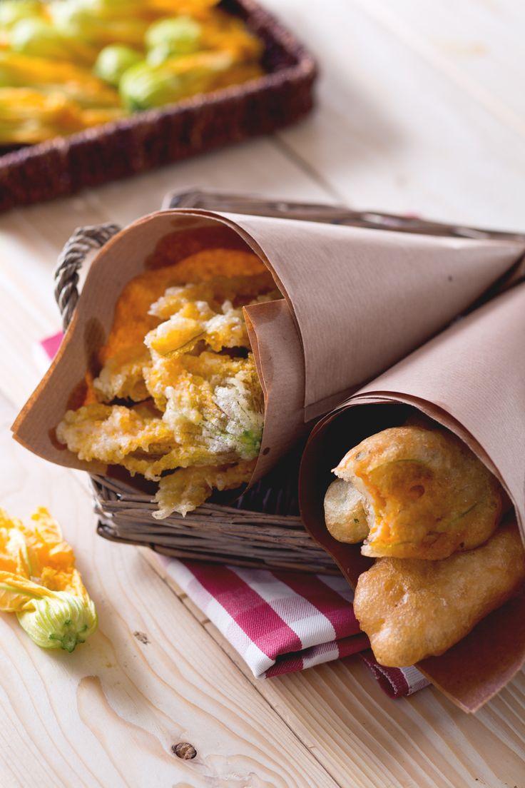 Fiori di zucca in pastella: scopri la ricetta dello chef Fabio Abbattista!  [Fried and stuffed curgette flowers]