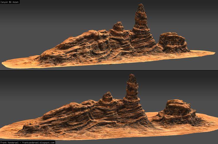 High Poly Rock Spire frankvanderwel.blogspot.com