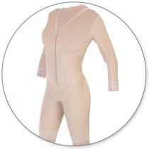 Style 27S – Mid Thigh Body Shaper with Sleeves by Contour