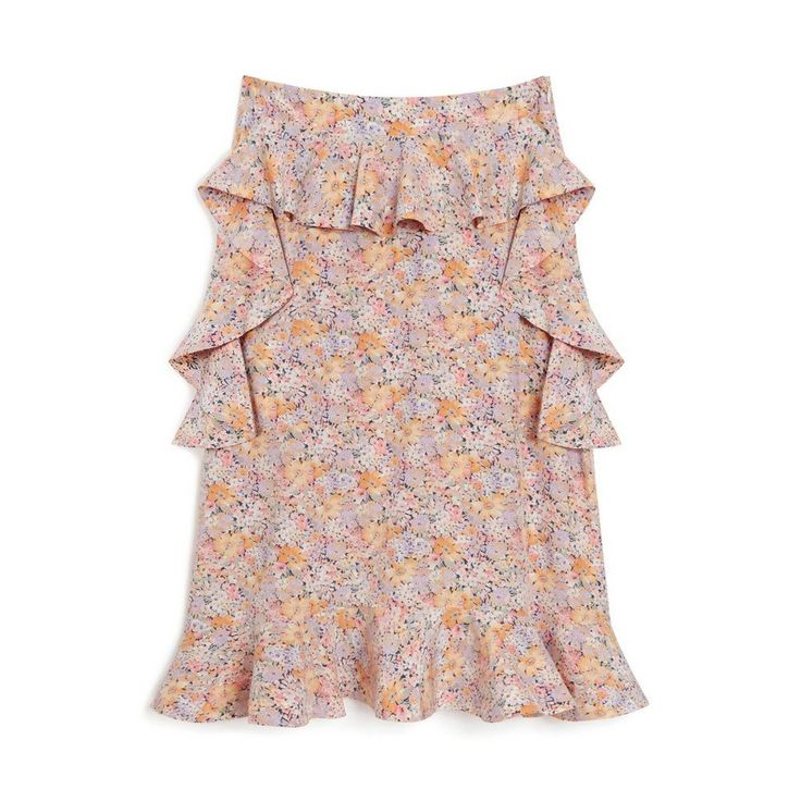 Shop the Aya Skirt in Lilac Flower Silk at Mulberry.com. Cut for an A-line shape, the Aya Skirt is crafted from a beautiful flower print silk. Enhanced by flouncy ruffles around the waist, it perfectly captures the romantic spirit of 17th century English gardens.