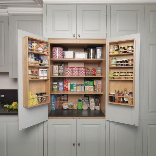 The kitchen has many elements adding to its traditional charm such as shaker style peg rails - Country kitchen larder cupboard ...