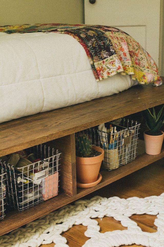 Mejores 58 imágenes de DIY Platform Bed en Pinterest   Habitaciones ...