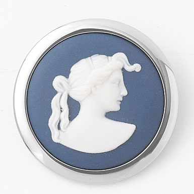 Wedgewood brooch from Cashs of IrelandMuse Brooches, Wedgewood China, Wedgewood Blue, Wedgewood Brooches, Silver Brooches