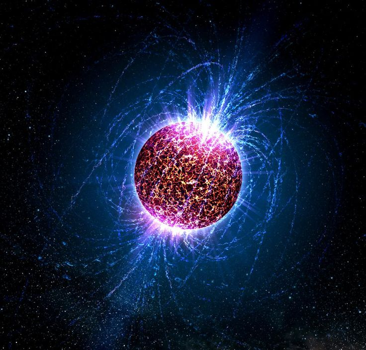 A neutron star, despite being mostly made of neutral particles, produces the strongest magnetic fields in the Universe: NASA / Casey Reed - Penn State University 2/2/17