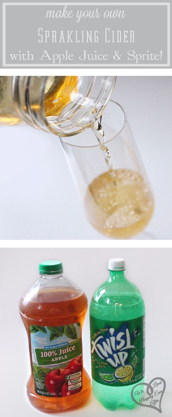 Prom Dinner Party Ideas Part - 41: Make Sparkling Cider From Apple Juice And Sprite! - We Did This For The Prom