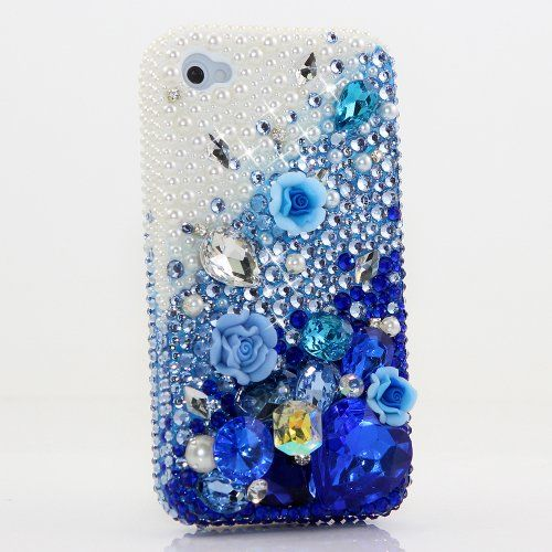 BlingAngels® 3D Luxury Bling iphone 5 5s Case Cover Faceplate Swarovski Crystals Diamond Sparkle bedazzled jeweled Design Front & Back Snap-on Hard Case + FREE Premium Quality Stylus and Water-Resistant Bag (100% Handcrafted by BlingAngels) (Blue Flower with Pearls Design) BlingAngels http://www.amazon.com/dp/B00GOGJLX6/ref=cm_sw_r_pi_dp_ZDJgub1745FFX