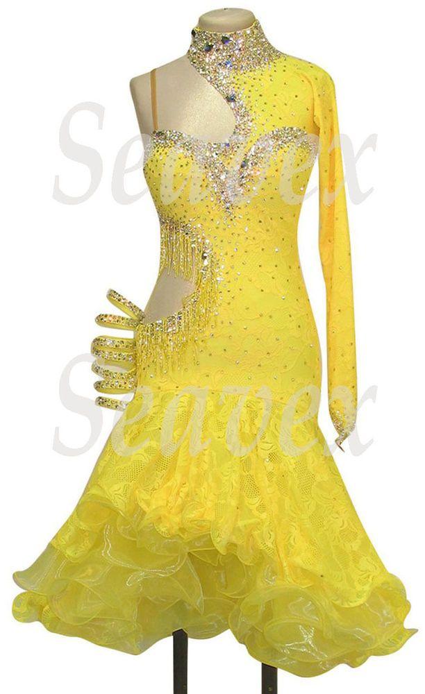 Бальные латинские румбы ча ча Самба UK8/US6 танец платье #L2411 желтое кружево | Одежда, обувь и аксессуары, Одежда для танцев, Танцевальная одежда для взрослых | eBay!