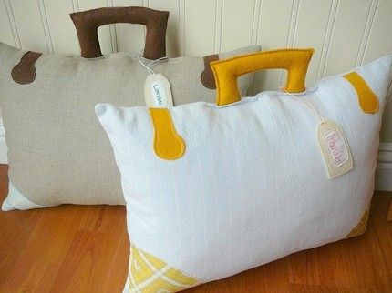 Take Me Anywhere Suitcase Pillow - Cute!