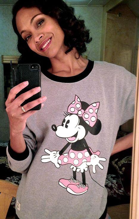 You Asked, We Found: Zoe Saldana's Minnie Mouse sweatshirt