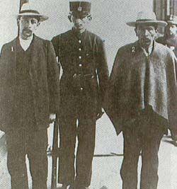 Leovigildo Galarza y Jesús Carvajal, asesinos de Rafael Uribe Uribe.