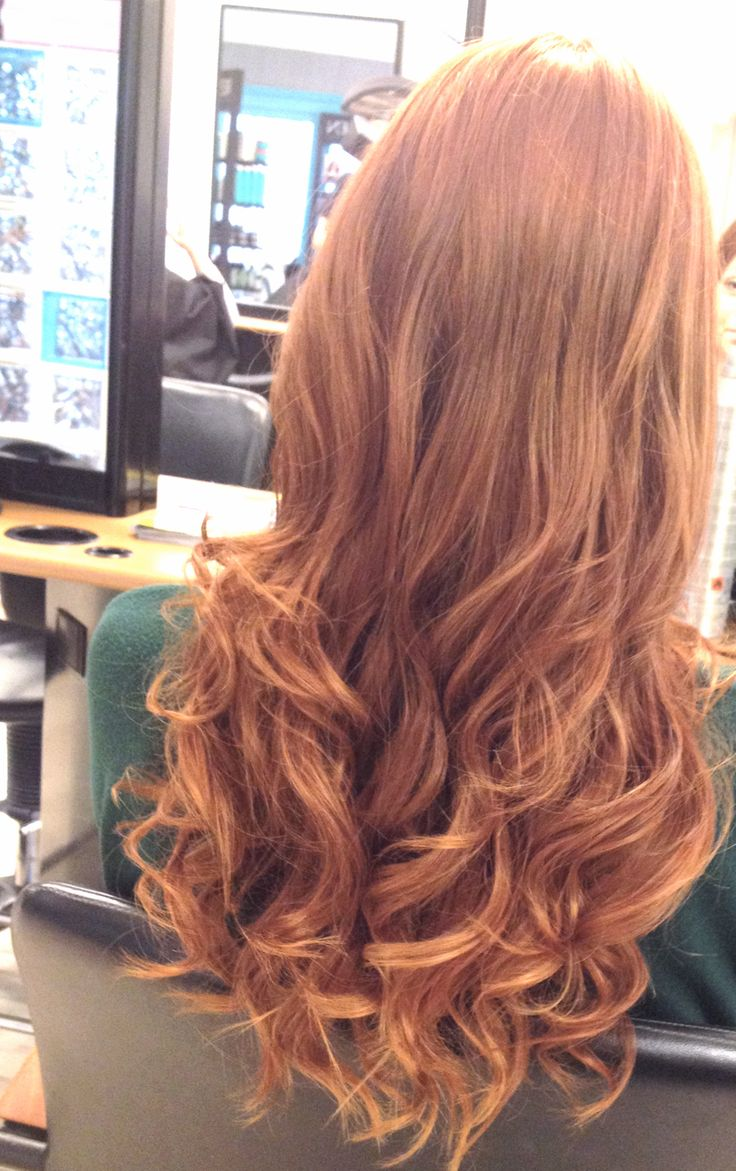 curly copper colored hair beautiful waves