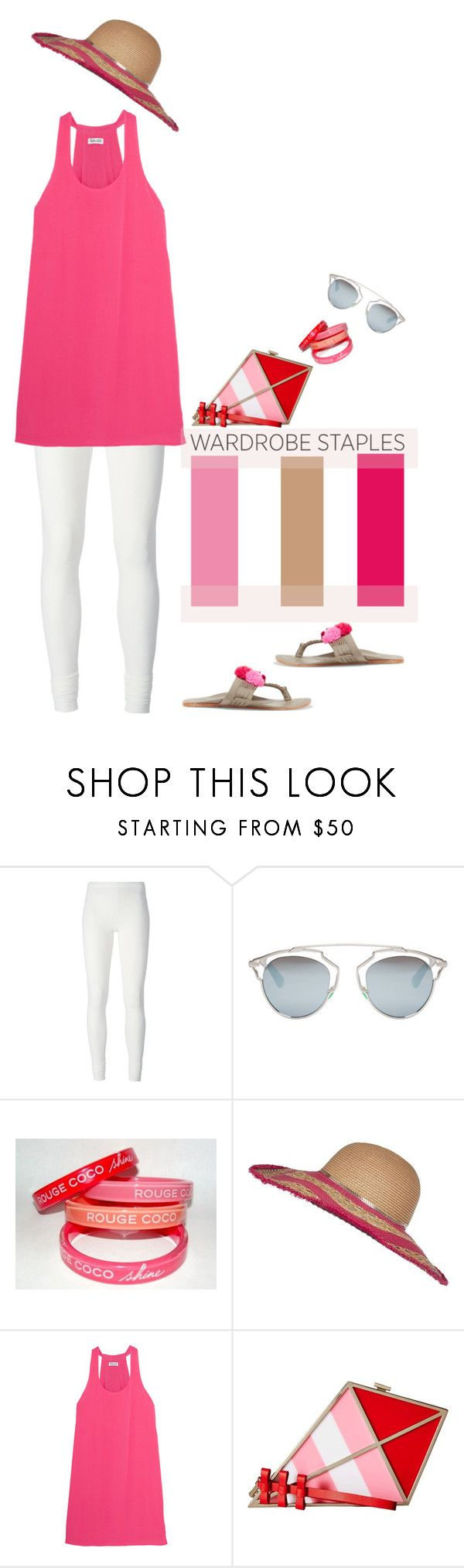 """Wardrobe Staples: Leggings'"" by dianefantasy ❤ liked on Polyvore featuring Rick Owens Lilies, Christian Dior, Chanel, River Island, Splendid, Kate Spade, Figue, Leggings, polyvorecommunity and polyvoreeditorial"