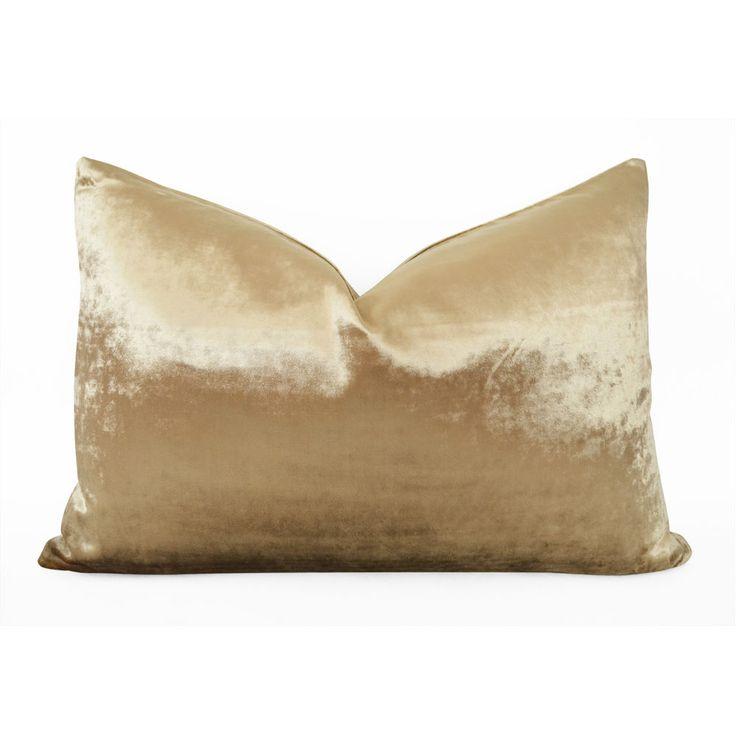 SALE 50% - Bronze Gold Velvet Pillow Metallic Pillow Cover Gold Neutral Pillow #Handmade