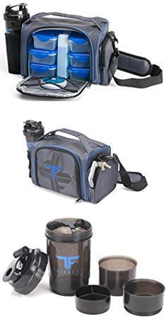 Lunch Kits For Adults. ThinkFit Insulated Lunch Boxes with 6 Portion Control Containers, Reusable Ice Pack, Pill Box, Shaker Cup, Shoulder Strap and Extra Storage Pocket (Blue).  #lunch #kits #for #adults #lunchkits #kitsfor #foradults