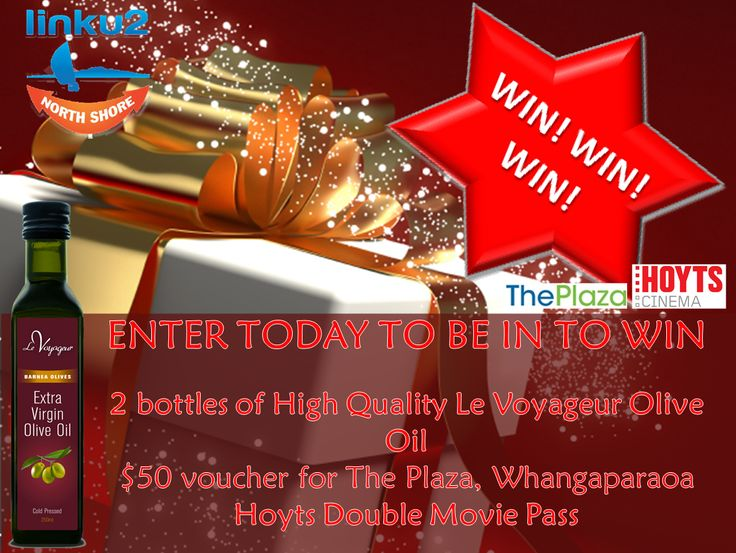 Win in our new Giveaway: Le Voyageur Olive Oil and lots more prizes! Closes 19 December (to enter you must be in the North Shore, Auckland | Enter here: http://www.dango.co.nz/s.php?u=GExioYzc2844