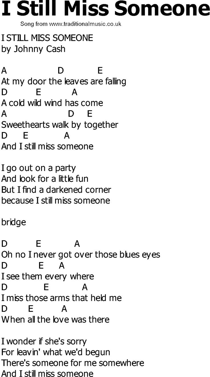 country lyrics with chords | Old Country song lyrics with chords - I Still Miss Someone 2/2 time