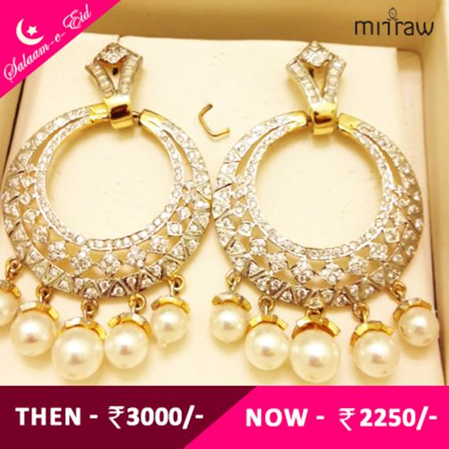 Beautiful earrings. Truly Ethnic. Shop now- http://bit.ly/1IsCCCC  #Salaam-e-Eid