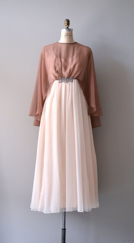vintage 1960s Neapolitan chiffon dress #vintagedress #1960s