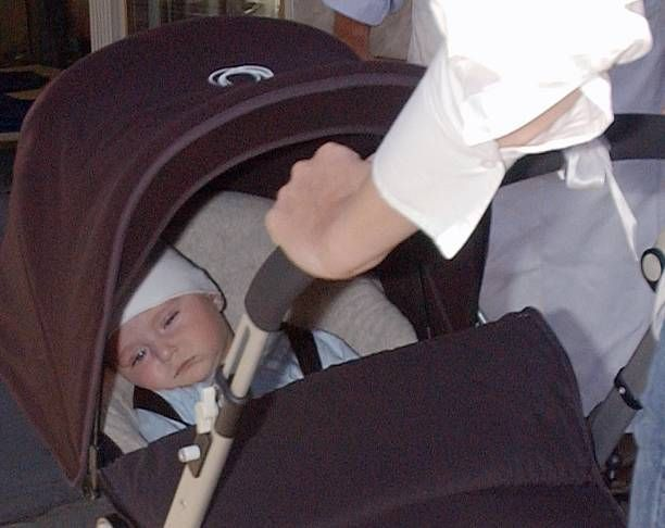 Melania TrumpTrump pushes a baby carriage with her and Donald Trump's son Barron William Trump October 9 2006 in New York City