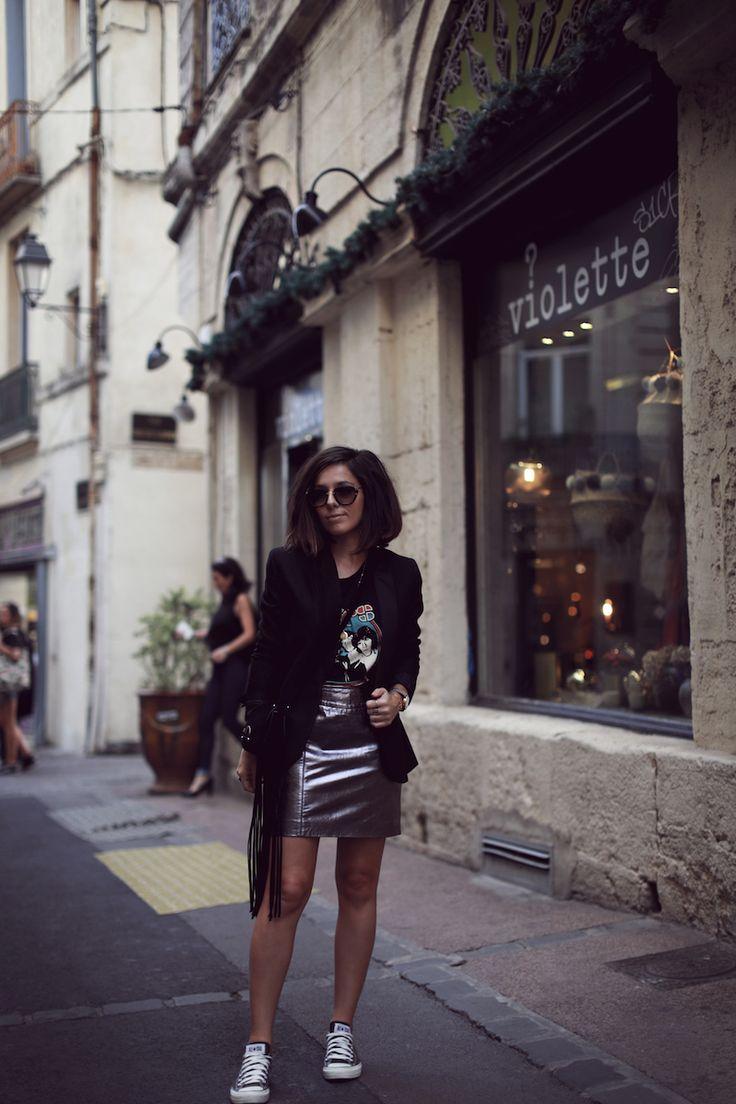 Blog mode Jupe cuir argentée MKT – Le Petit Monde de Julie