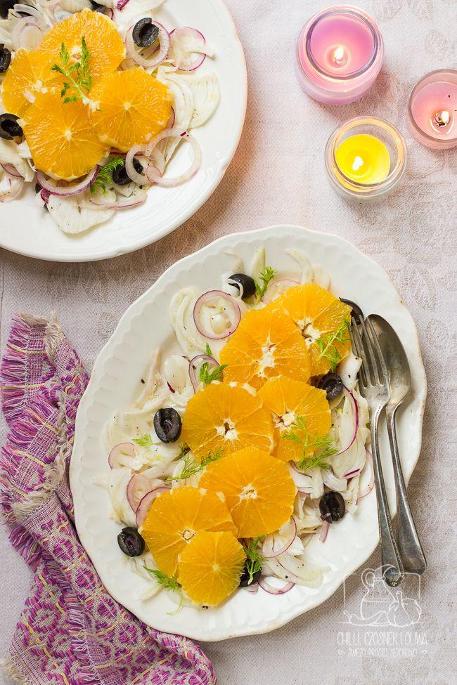 Sałatka z pomarańczy i kopru włoskiego