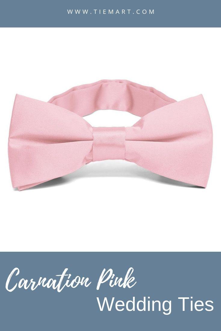 TieMart Boys Blush Pink Bow Tie