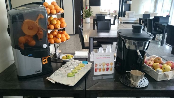 Orange or vegetables #juice? At the Hotel Lis, you can choose thanks to #Minex & #Multifruit!