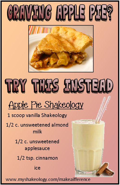 Vanilla Shakeology: Apple Pie Recipe   ***I want to be your free coach. I love helping people reach their goals! Sign-up today! No credit card needed! It's FREE!: https://www.teambeachbody.com/tbbsignup/-/tbbsignup/free?referringRepId=543655