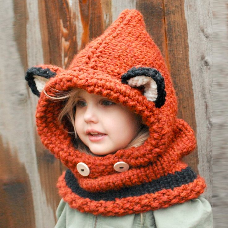 fox and cat shape crochet hooded baby scarf winter cute warm children cat neck warp head scarf and beanie,knit cowl cap scarves