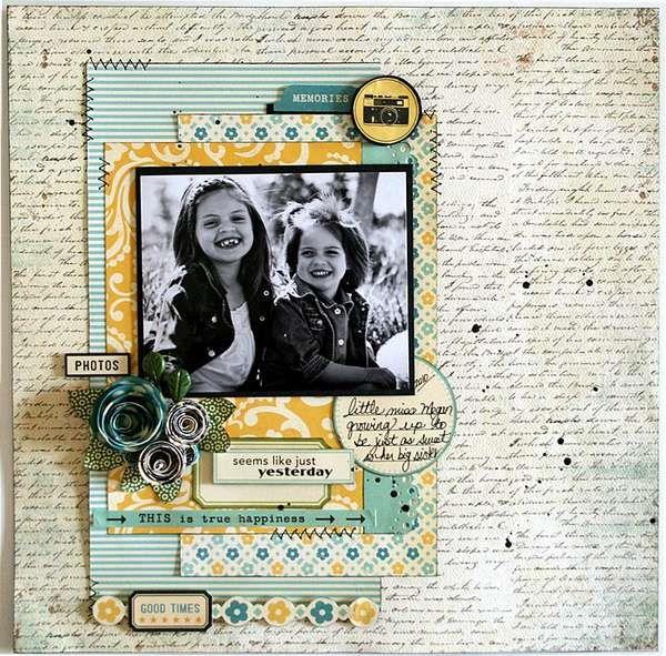 great layout!: Scrapbook Ideas, Scrapbook Com, Color, Cute Houses, Blue Yellow, Scrapbook Photo, Scrapbook Layout, Houses Paper, Http Scrapbookphoto 13Faq Com