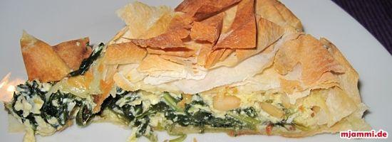 Spinat-Feta-Quiche nach Jamie Oliver