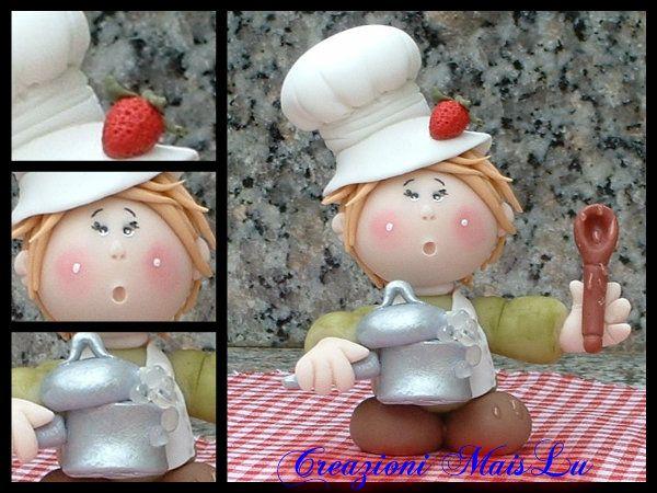 Cuoco pasticcione o cuoca in pasta di mais , by Creazioni MaisLu, 11,00  su misshobby.com