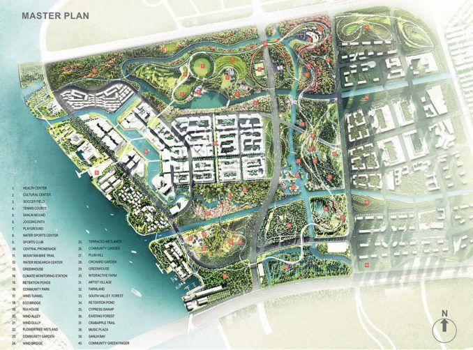 Sanlin Valley Park Master Plan Urban Heat Island Valley Park