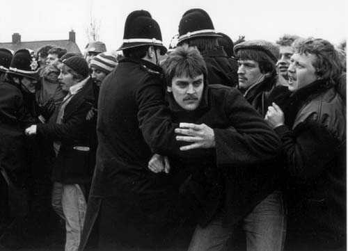 The Miner's strike was a significant event from 1984 - 1985 and featured prominently in the news.