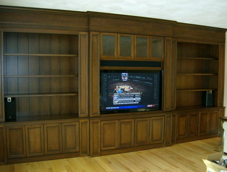 built-in wood entertainment systems | Built in Wall unit ...