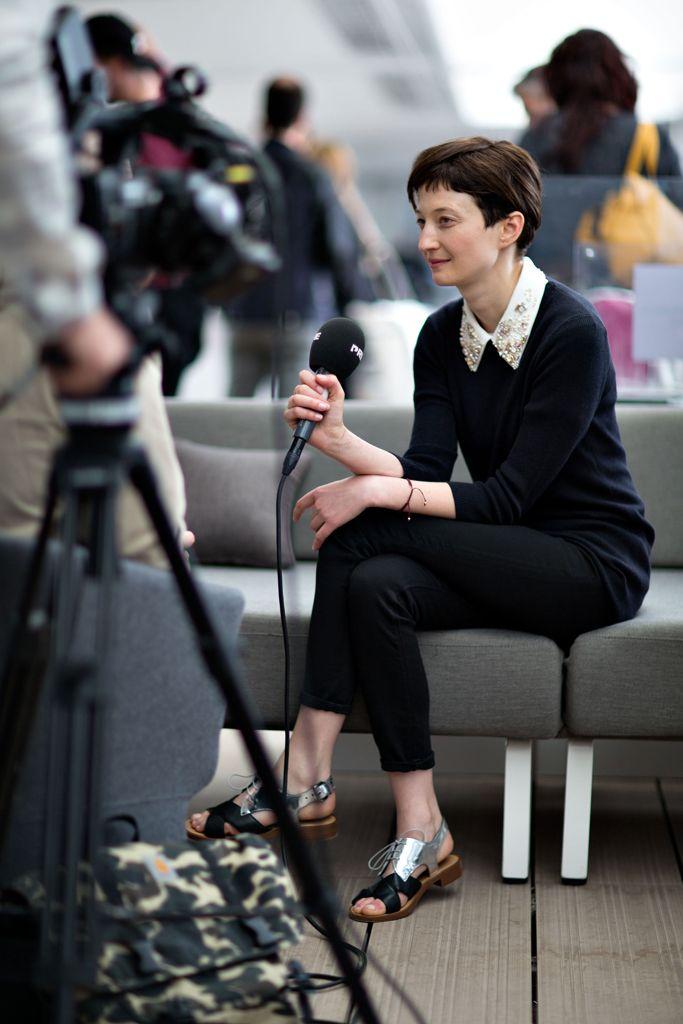 """Alba Rohrwacher, actrice du film """"Le Meraviglie"""". LA PLAGE MAJESTIC BARRIÈRE 2014"""