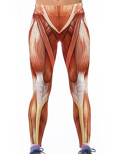 Damen Bedruckt Legging,Polyester Elasthan Dünn 4775304 2017 – €6.85