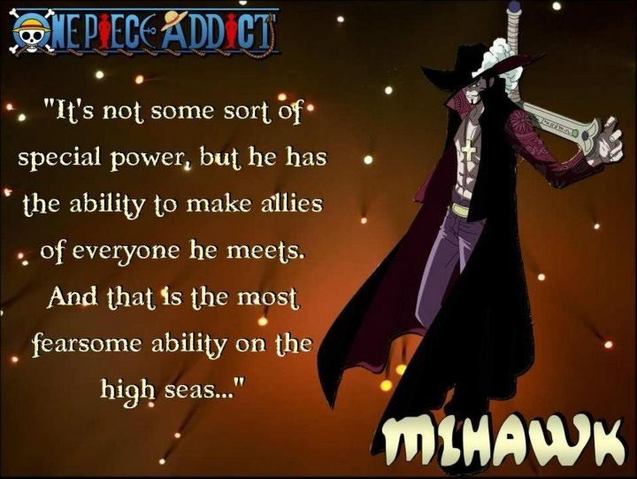 Mihawk Quote About Luffy Describes Exactly What I Love About Luffy