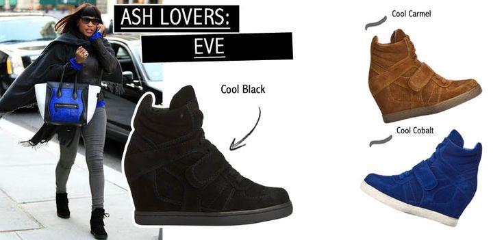 La cantante Eve sfoggia le sue Ash Cool Black in suede per le strade di New York!