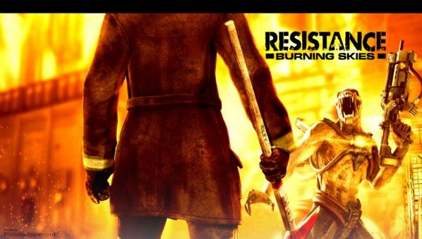 Resistance Burning Skies PS Vita Wallpaper
