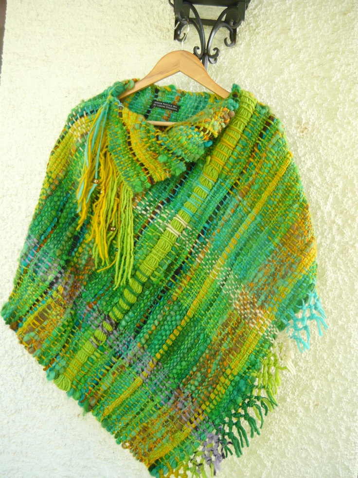 Rilmu Handwoven Wool Poncho by lorenaferreira on Etsy, $278.00
