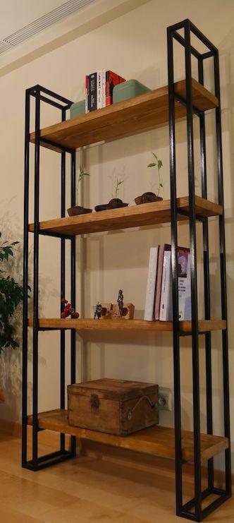 Masif Kitaplık Malzeme: Metal çerçeve, masif ahşap rafÖlçüler: 185cm * 100 cm * 30cmSipariş üzerine.... 196867