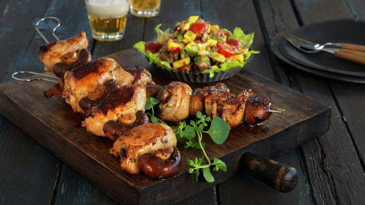 Brasilianske grillspyd med kylling - Gjester - Oppskrifter - MatPrat